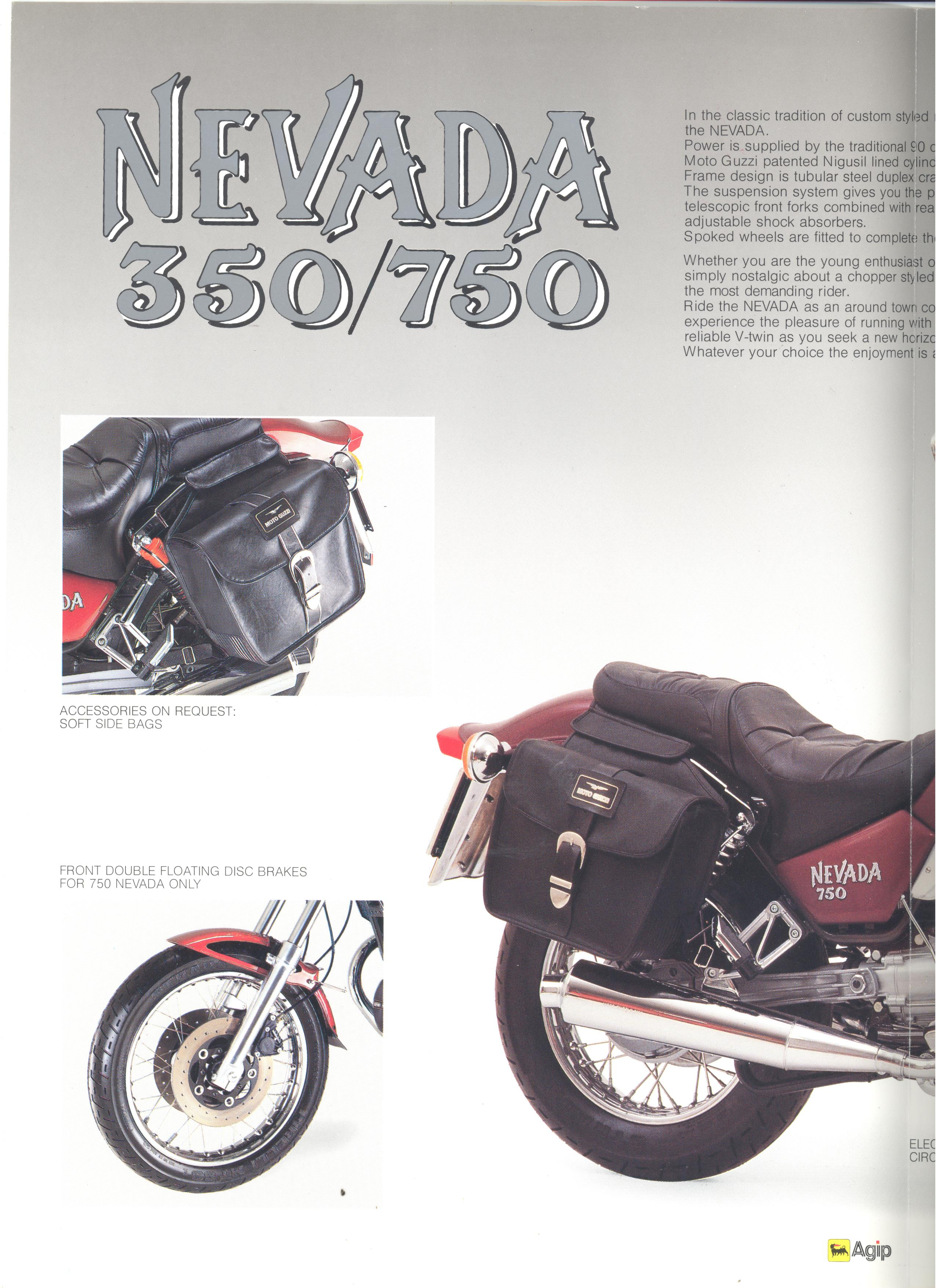 Moto Guzzi factory brochure: Nevada 350 - 750