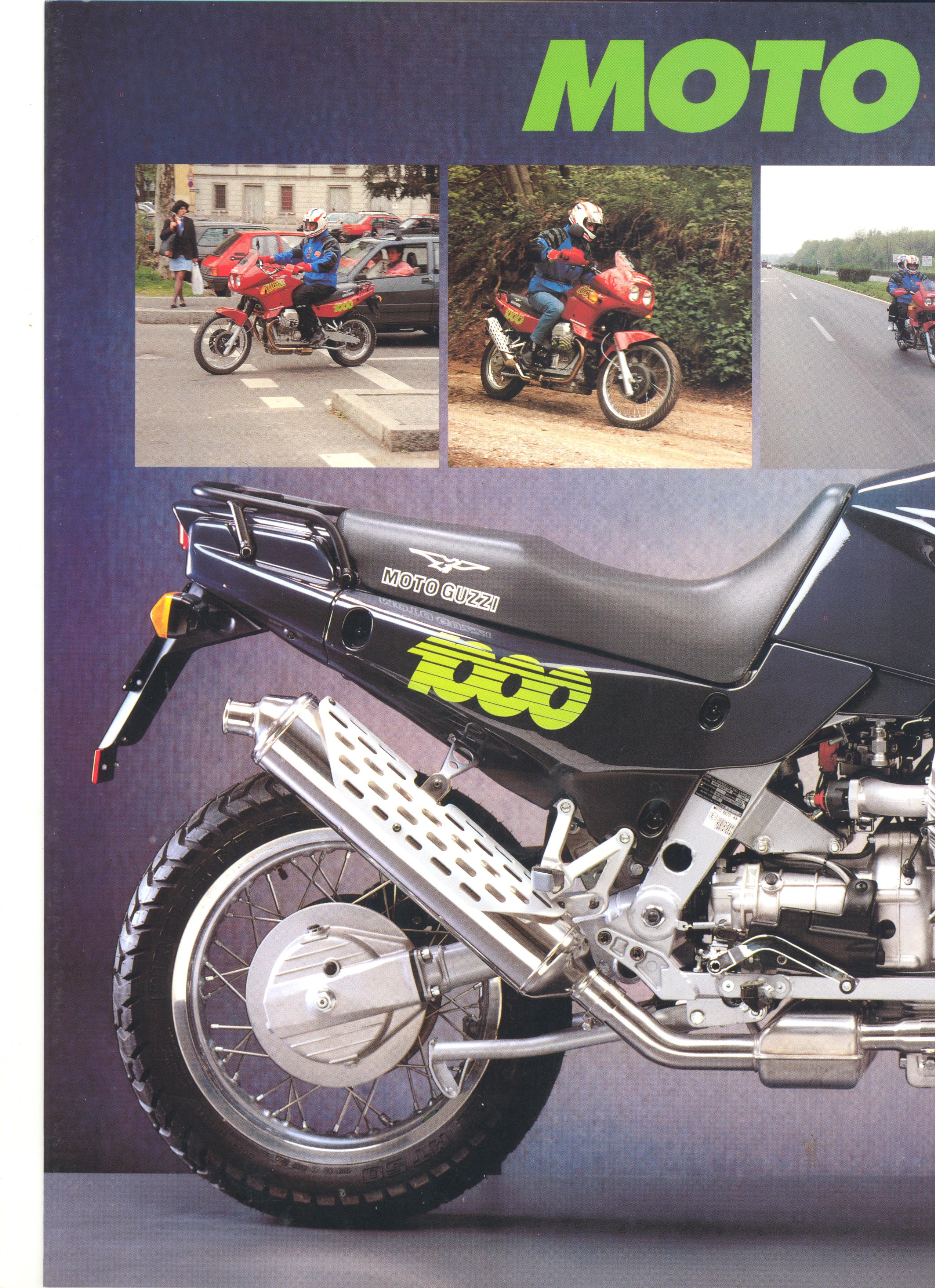 Moto Guzzi factory brochure: Quota 1000