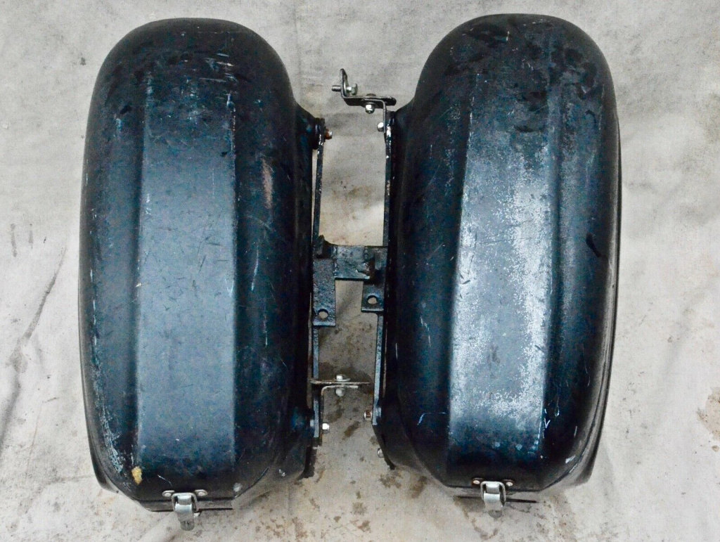 Fibre-mold Tourmaster saddlebags.