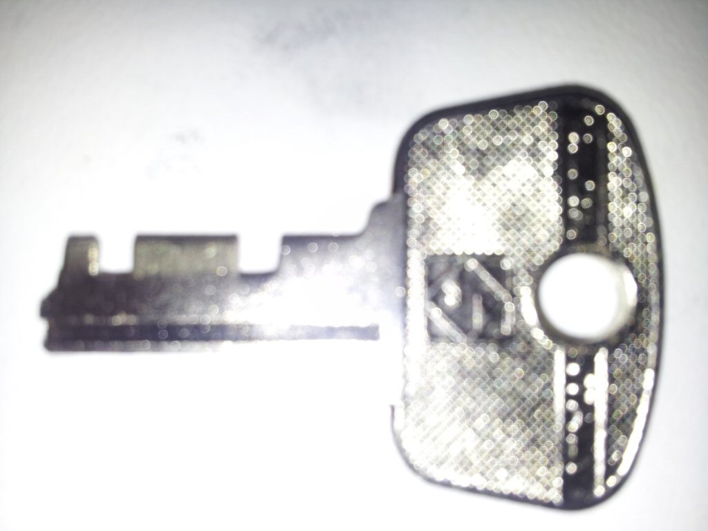 Shoei saddlebag latch key.