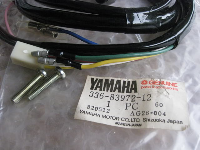 Yamaha handlebar switch YHA206 / YHA 206 / YHA-206. The switch was identified as part number 336-83972-12.